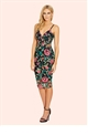 Sistaglam Remy All Over Embroidered Cami Bodycon Dress