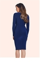 Jessica Wright Lauren Navy Bodycon Dress