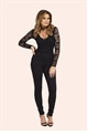 Jessica Wright Cherry Black Lace Plunge Bodysuit