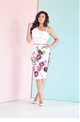 Jessica Wright beatrix multi floral pencil skirt