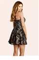 Jessica Wright Bethan Black Lace Bandeau Skater Dress