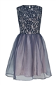 LIPSTICK BOUTIQUE MANDY LACE OVERLAY PROM DRESS