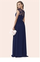 Sistaglam Loriana navy embroided lace maxi dress