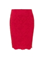 JESSICA WRIGHT VIENNA RED LACE MIDI SKIRT