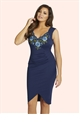 Jessica Wright Steffie Blue Midi Dress