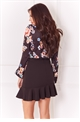 Jessica Wright Nancie black floral print long sleeve bodysuit