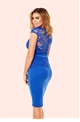 Jessica Wright Bliss Cobalt Lace Detail Bodycon Dress