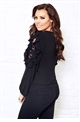 Jessica Wright Elettra lace louse with frilled sleeves