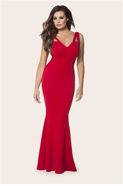 Jessica Wright Ruby Red Flared Maxi Dress
