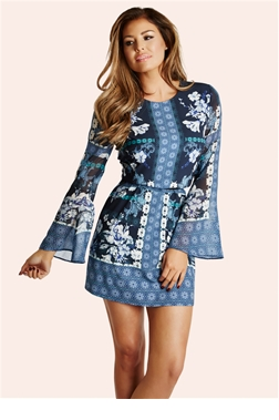 Jessica Wright Milly Floral Printed Shift Dress
