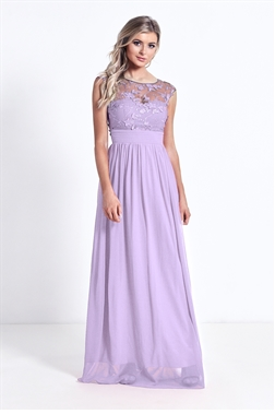 Sistaglam Beverley Lilac/purple Embellished Maxi Dress
