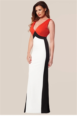 JESSICA WRIGHT DANIELLA DEEP PLUNGE MAXI DRESS