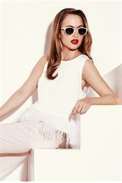 Rosie Minsk White Feather Top