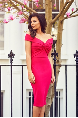 Jessica Wright Carolina Pink Bardot Bodycon Dress
