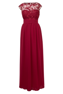 Sistaglam Beverley wine red Embellished Maxi Dress