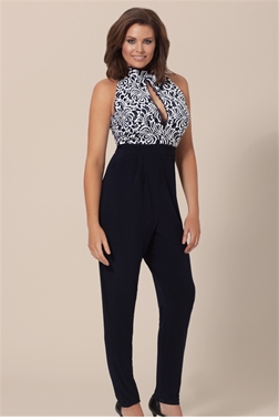 JESSICA WRIGHT PAIGE JUMPSUIT- NAVY