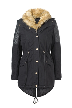 Jessica Wright Cassie Black Coat