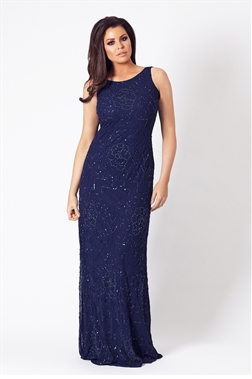 Jessica Wright Aphrodite navy sequin maxi dress