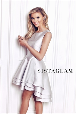 Sistaglam Beatrix Sateen Dip Hem Prom Dress