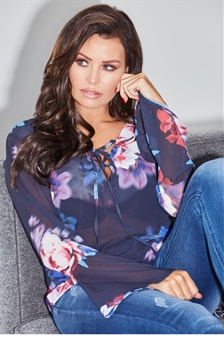 Jessica Wright Charley Top Multicolour Floral Off The Shoulder Top