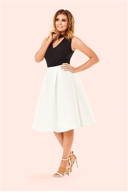 Jessica Wright Seline White Textured Prom Skirt