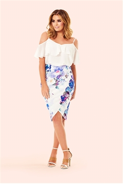 Jessica Wright Andrea Floral Wrap Front Pencil Skirt- currently unavailable