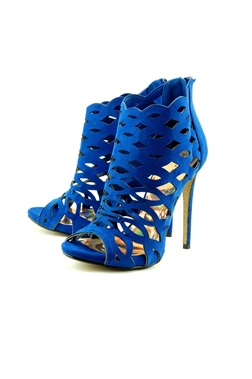Jessica Wright Allure Cobalt Blue Microsuede Shoes- currently unavailable