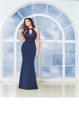 Jessica Wright Avani Navy Lace Maxi Dress