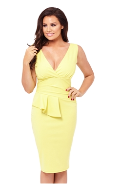 Jessica Wright Keeley Yellow Bodycon Dress