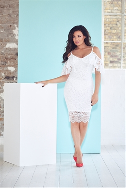Jessica Wright saydee white lace bodycon dress