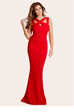 Jessica Wright Krystal Red Maxi Dress