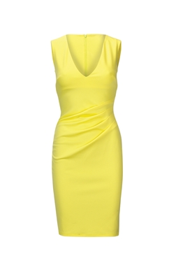 Yellow bodycon dresses uk