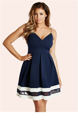 Jessica Wright Navy Lula Strappy Skater Dress- currently unavailable