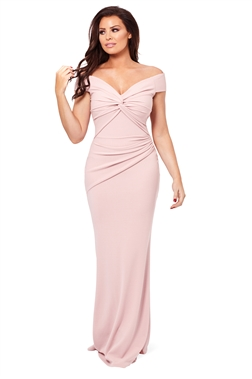 Jessica Wright Marina pink bardot maxi dress
