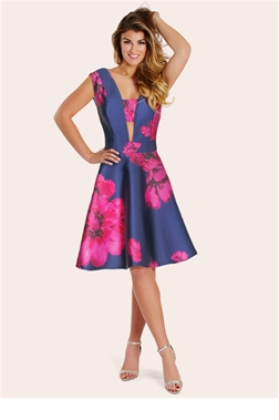 Sistaglam Sadie Floral Plunge Neck Prom Dress- currently unavailable