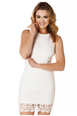SISTAGLAM AMBER CROCHET LACE BODYCON DRESS