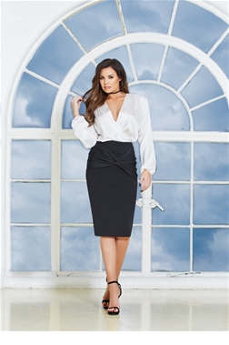 Jessica Wright Myah Ruched Front Pencil Skirt