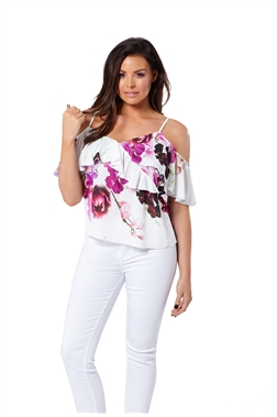 Marcella multi floral top.