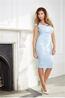 Jessica Wright Toni Pale Blue Ruched Bodycon Dress- currently unavailable