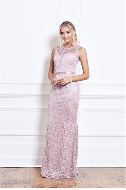 Sistaglam Aston Nude Lace Bridesmaid Dress