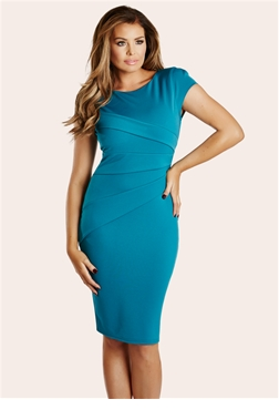 Jessica Wright Vicky Teal Bodycon Dress