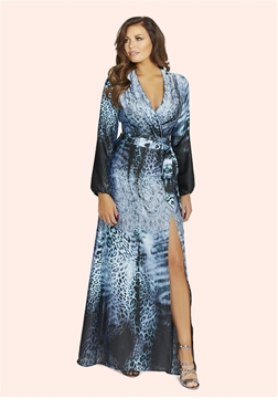 Jessica Wright Bluebell Silk Maxi Dress