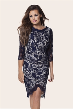 Jessica Wright Pippa Navy Corded Lace Bodycon Dress- currently unavailable