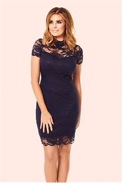 Jessica Wright Kendall Navy All Over Lace Bodycon Dress