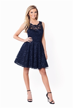 SISTAGLAM TISH ALL OVER LACE PROM DRESS