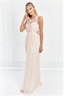 Sistaglam Nikalia Blush Embroided Beaded Maxi Dress