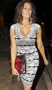 Jessica Wright wearing Nickie Dress