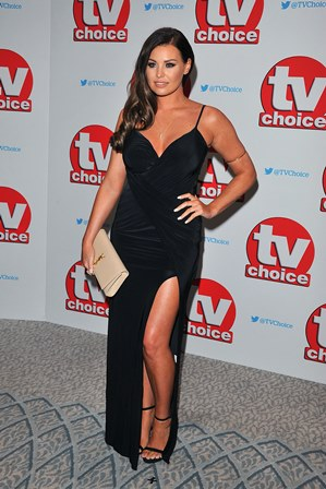 Jessica at the TV Choice awards wearing the Myla maxi