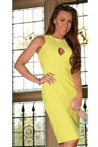 Michelle Heaton wearing Alexia Yellow Dress