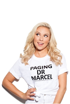 Sistaglam Marcel 'Paging Dr Marcel' White Cotton T-Shirt